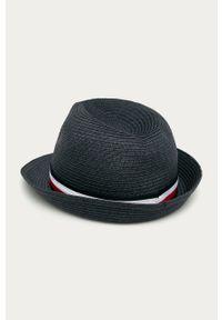 Szary kapelusz TOMMY HILFIGER z aplikacjami