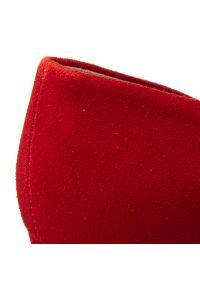 Czerwone półbuty Baldaccini z cholewką, na obcasie, na średnim obcasie