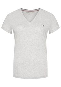 TOMMY HILFIGER - Tommy Hilfiger T-Shirt Heri Tage WW0WW24969 Szary Regular Fit. Kolor: szary
