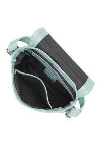 Wittchen - Damska listonoszka skórzana saddle bag. Kolor: zielony. Wzór: haft, aplikacja. Dodatki: z haftem. Materiał: skórzane. Styl: klasyczny, elegancki, retro