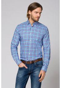 Niebieska koszula Lancerto na lato, casualowa