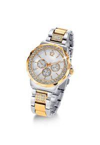 Srebrny zegarek bonprix casualowy