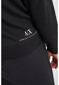 Armani Exchange - BLUZA ARMANI EXCHANGE. Typ kołnierza: kaptur. Długość: długie. Wzór: napisy, haft