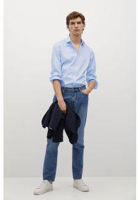 Niebieska koszula Mango Man klasyczna, z klasycznym kołnierzykiem