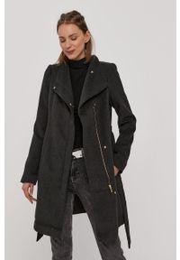 Szary płaszcz Vero Moda bez kaptura