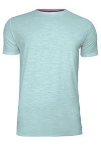 Miętowy t-shirt Brave Soul melanż, na co dzień
