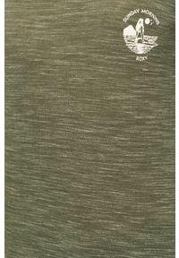 Zielona bluzka Roxy casualowa, na co dzień, z dekoltem w łódkę