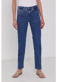 Calvin Klein - Jeansy. Kolor: niebieski