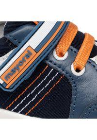 Mayoral - Sneakersy MAYORAL - 41278 Jeans 33. Zapięcie: rzepy. Kolor: niebieski. Materiał: skóra, materiał. Szerokość cholewki: normalna