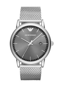 Emporio Armani - Zegarek AR11069. Kolor: srebrny. Materiał: materiał