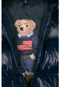 Niebieski płaszcz Polo Ralph Lauren casualowy, polo