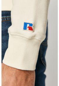 Russell Athletic - Bluza bawełniana. Okazja: na co dzień. Kolor: beżowy. Materiał: bawełna. Wzór: nadruk. Styl: casual