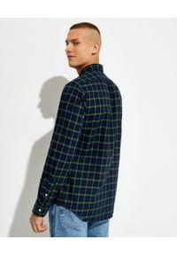 Ralph Lauren - RALPH LAUREN - Koszula w kratę Slim Fit. Typ kołnierza: button down, polo. Kolor: zielony. Materiał: bawełna. Długość rękawa: długi rękaw. Długość: długie