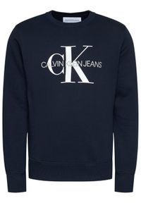 Calvin Klein Jeans Bluza Monogram Logo J30J314313 Granatowy Regular Fit. Kolor: niebieski