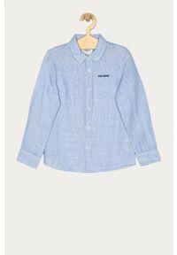 Niebieska koszula Pepe Jeans elegancka, długa, na co dzień