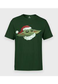 MegaKoszulki - Koszulka męska Star Wars Świąteczny Baby Yoda. Materiał: bawełna. Wzór: motyw z bajki. Styl: wizytowy