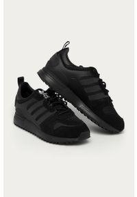Czarne sneakersy adidas Originals Adidas ZX, z cholewką, na sznurówki