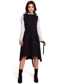 Czarna sukienka dzianinowa MOE bez rękawów