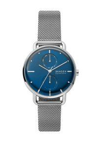 Skagen - Zegarek SKW2947. Kolor: srebrny. Materiał: materiał