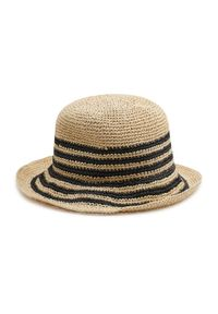 Lauren Ralph Lauren - Kapelusz LAUREN RALPH LAUREN - Crch Bucket-Hat 454838511001 Natural/Black. Kolor: beżowy