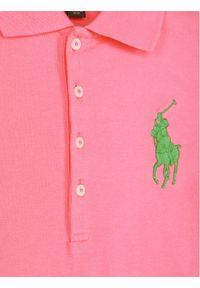 Różowa sukienka Polo Ralph Lauren prosta, casualowa