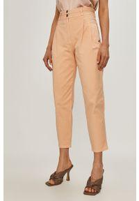 Pomarańczowe jeansy loose fit Patrizia Pepe gładkie, klasyczne