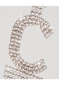 RETROFETE - Kolczyk z cyrkoniami C. Materiał: srebrne. Kolor: srebrny. Wzór: aplikacja. Kamień szlachetny: cyrkonia