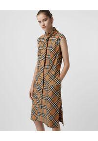 Beżowa sukienka mini Burberry na co dzień, casualowa, prosta