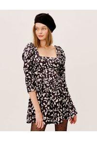 For Love & Lemons - FOR LOVE & LEMONS - Czarna sukienka w kokardy Angelica. Typ kołnierza: kokarda. Kolor: czarny. Styl: wizytowy. Długość: mini