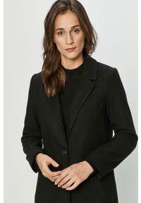 Czarny płaszcz Jacqueline de Yong na co dzień, klasyczny, bez kaptura