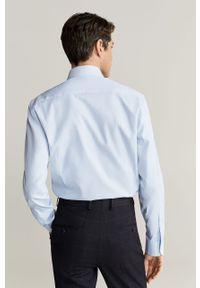 Niebieska koszula Mango Man długa, elegancka