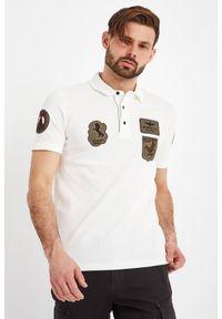 Koszulka polo Aeronautica Militare sportowa, z nadrukiem, polo