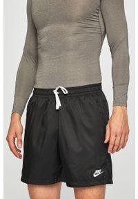 Czarne szorty Nike Sportswear casualowe, na co dzień, gładkie