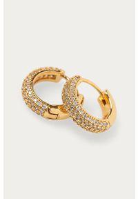 Złote kolczyki Kate Spade metalowe, z aplikacjami