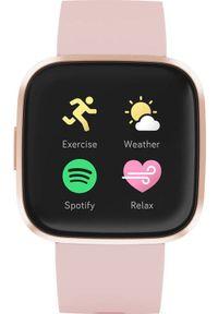 FITBIT - Smartwatch Fitbit Versa 2 Różowy (FB507RGPK). Rodzaj zegarka: smartwatch. Kolor: różowy