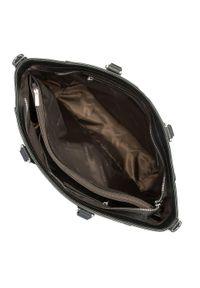 Wittchen - Torebka shopperka skórzana klasyczna. Kolor: srebrny, wielokolorowy, czarny. Wzór: haft. Dodatki: z haftem. Materiał: skórzane. Styl: klasyczny