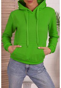 Zielona bluza IVET na co dzień, casualowa, z kapturem