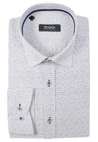 Biała elegancka koszula Grzegorz Moda Męska na spotkanie biznesowe, długa, z długim rękawem