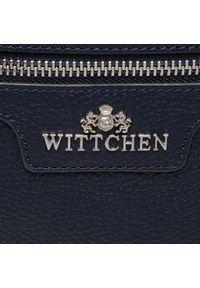 Niebieska torebka klasyczna Wittchen skórzana, klasyczna