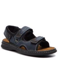 Niebieskie sandały Josef Seibel na lato, klasyczne