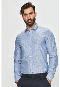 Niebieska koszula Pepe Jeans długa, na co dzień, z długim rękawem, elegancka