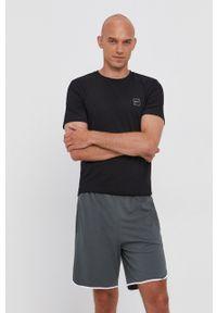 BOSS - Boss - T-shirt bawełniany Boss Casual. Okazja: na co dzień. Kolor: czarny. Materiał: bawełna. Wzór: gładki, aplikacja. Styl: casual