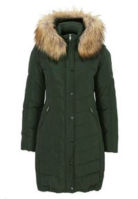 Zielona kurtka SAKI na zimę, elegancka