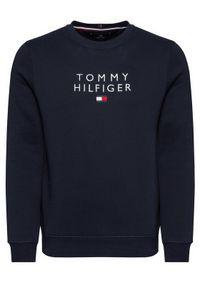 TOMMY HILFIGER - Tommy Hilfiger Bluza Stacked Flag MW0MW18299 Granatowy Regular Fit. Kolor: niebieski