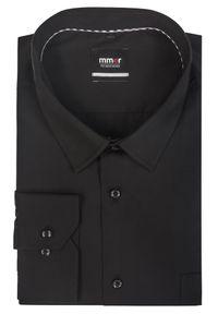 Czarna elegancka koszula Mmer z długim rękawem, długa