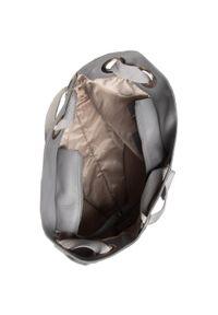 Szara torebka klasyczna Lasocki skórzana, casualowa, na ramię