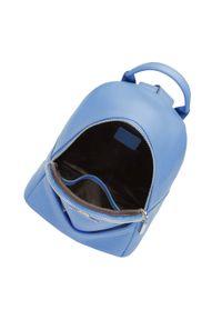 Wittchen - Damski plecak skórzany minimalistyczny. Kolor: niebieski. Materiał: skóra
