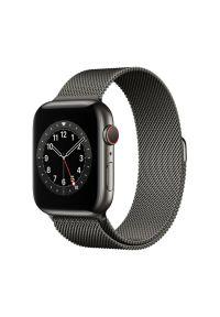 Szary zegarek APPLE smartwatch, wakacyjny