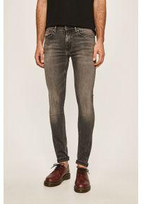 Szare jeansy Pepe Jeans z aplikacjami