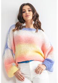 Sweter Fobya w kolorowe wzory